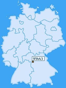 PLZ 91443 Deutschland
