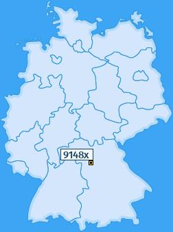 PLZ 9148 Deutschland