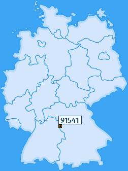 PLZ 91541 Deutschland