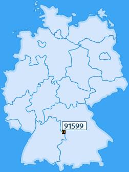 PLZ 91599 Deutschland