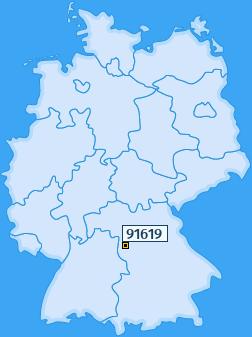 PLZ 91619 Deutschland