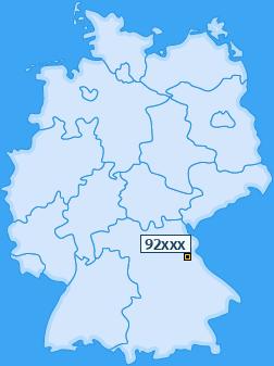 PLZ 92 Deutschland