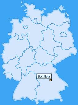 PLZ 92366 Deutschland