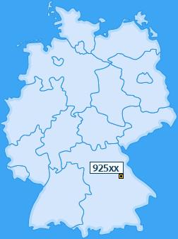 PLZ 925 Deutschland