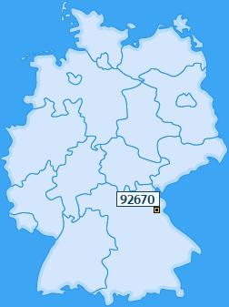 PLZ 92670 Deutschland