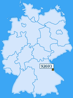 PLZ 92693 Deutschland