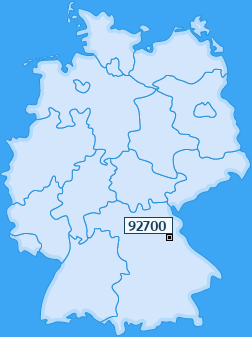 PLZ 92700 Deutschland