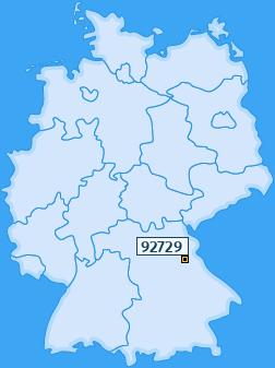 PLZ 92729 Deutschland