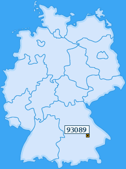 PLZ 93089 Deutschland