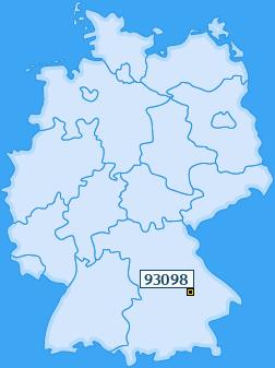 PLZ 93098 Deutschland