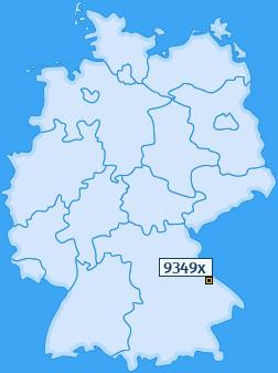 PLZ 9349 Deutschland