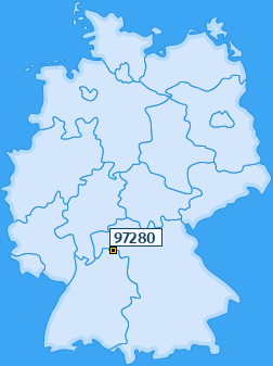 PLZ 97280 Deutschland
