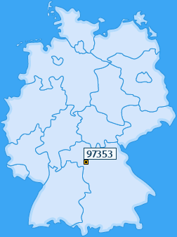 PLZ 97353 Deutschland
