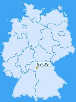 PLZ 97529 Deutschland