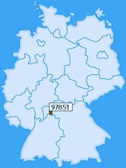 PLZ 97851 Deutschland