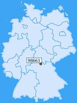 PLZ 98663 Deutschland