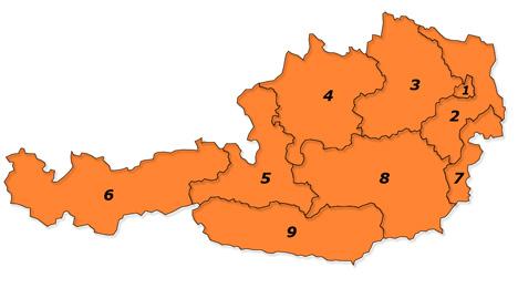 Plz Karte Osterreich Postleitzahlenkarte Mit Plz Gebiete