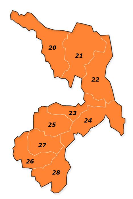 PLZ Karte Burgenland - Wien - Niederösterreich