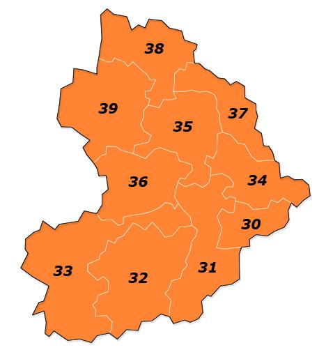 PLZ Karte Niederösterreich