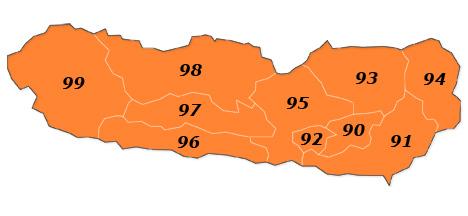 Plz Karte Kärnten - Tirol