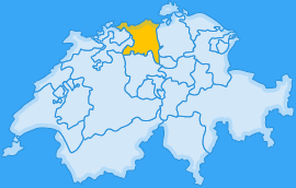 Landkarte Kanton Aargau