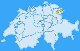 Landkarte Kanton Appenzell Ausserrhoden