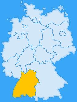 Landkarte Bundesland Baden-Württemberg
