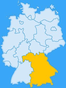 Landkarte Bundesland Bayern