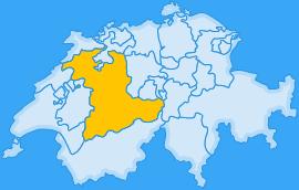 Landkarte Kanton Bern