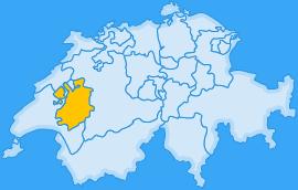 Landkarte Kanton Freiburg