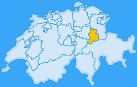 Landkarte Kanton Glarus