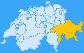 Landkarte Kanton Graubünden