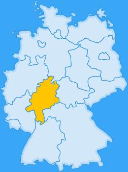 Landkarte Bundesland Hessen