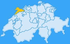 Landkarte Kanton Jura
