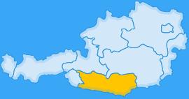 Landkarte Bundesland Kärnten