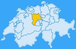 Landkarte Kanton Luzern