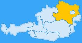Landkarte Bundesland Niederösterreich