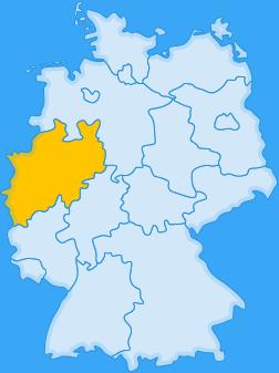 Landkarte Bundesland Nordrhein-Westfalen