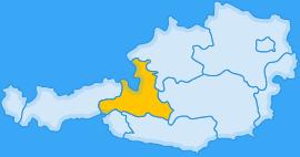 Landkarte Bundesland Salzburg