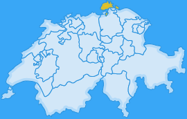 Landkarte Kanton Schaffhausen