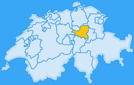 Landkarte Kanton Schwyz