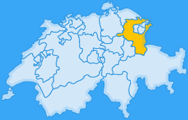 Landkarte Kanton Sankt Gallen