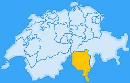 Landkarte Kanton Tessin/Ticino