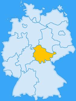 Landkarte Bundesland Thüringen