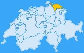 Landkarte Kanton Thurgau