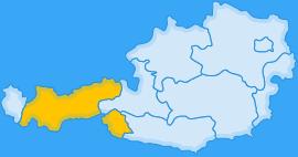 Landkarte Bundesland Tirol