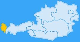 Landkarte Bundesland Vorarlberg