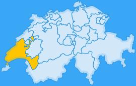 Landkarte Kanton Waadt/Vaud
